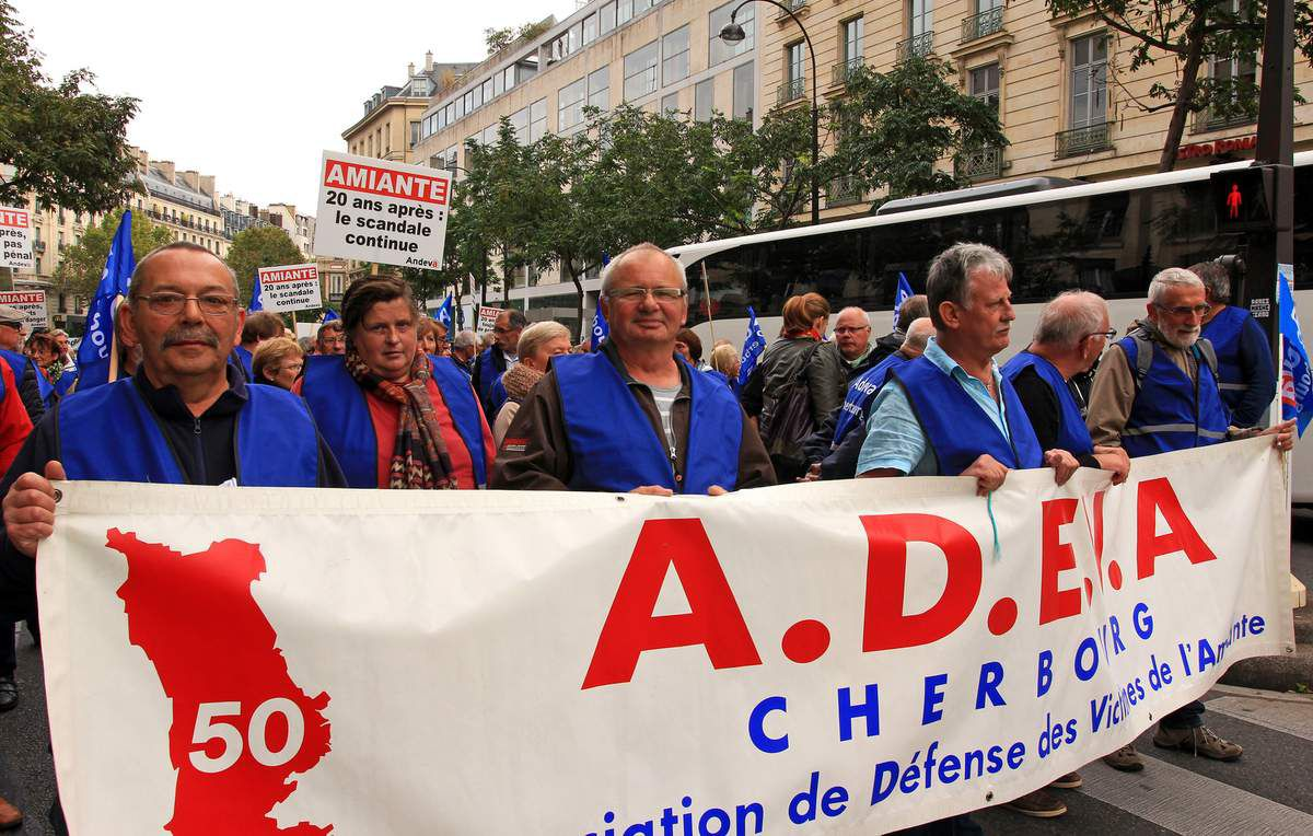 Manifestation nationale 2016 des victimes de l'amiante.
