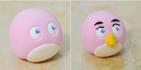 ANGRY BIRD Pink Lady en Fimo