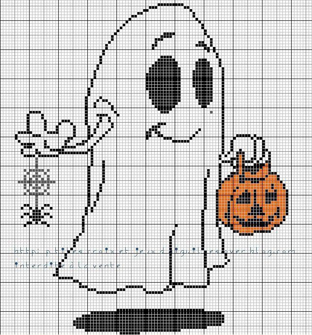 grille halloween..... fantôme
