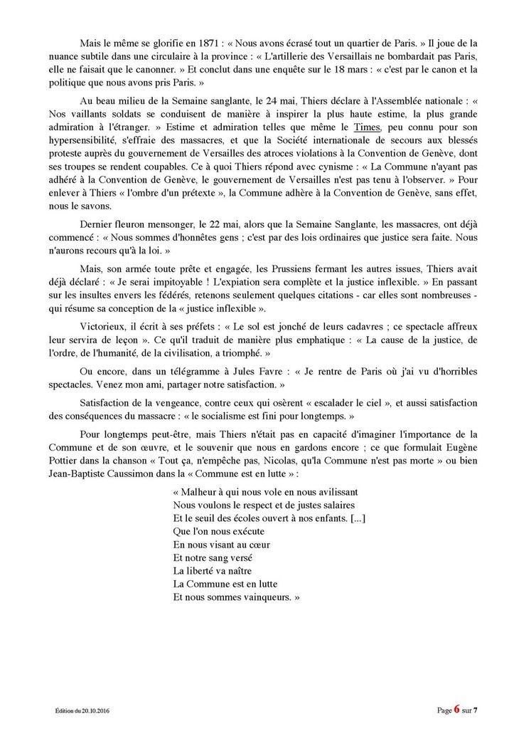 &quot&#x3B; Une importante rue de Grasse porte le nom de THIERS : par méconnaissance ou par idéologie ?&quot&#x3B;
