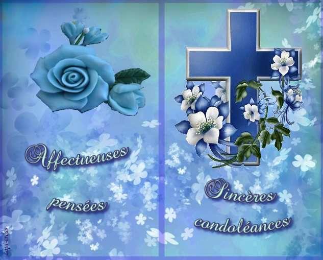 Carte de condoléances gratuite à imprimer.