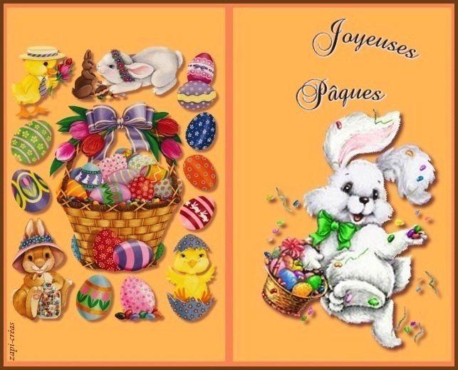 Carte de Pâques à imprimer ou envoyer