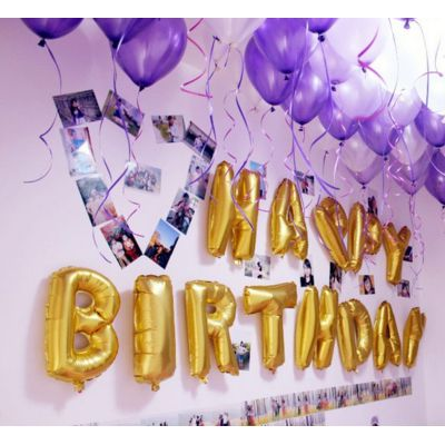 Happy Birthday en lettres gonflables