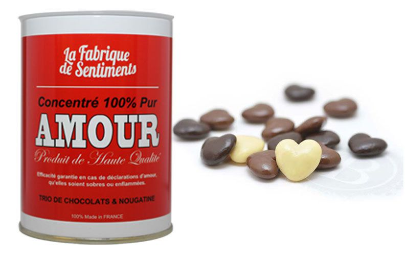"Chocolats ""concentré 100% pur Amour"""