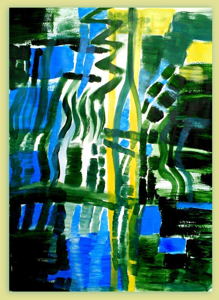 reflets source 01 - acryl sur papier 65 x 50