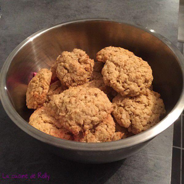 Cookies au beurre de cacahuètes et flocons d'avoine