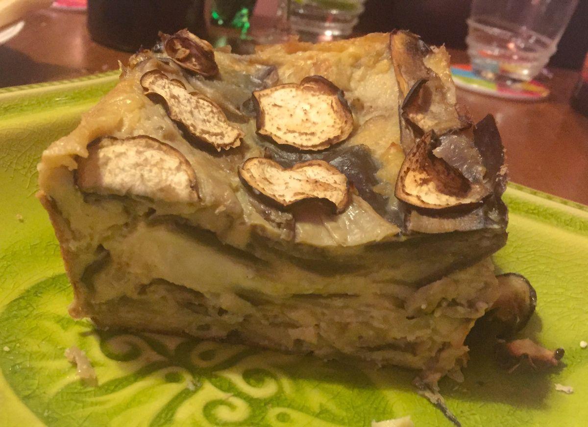 Gâteau invisible aubergine mozzarella