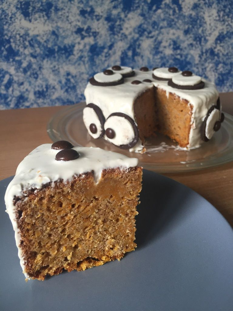 Cake courge butternut d'Halloween