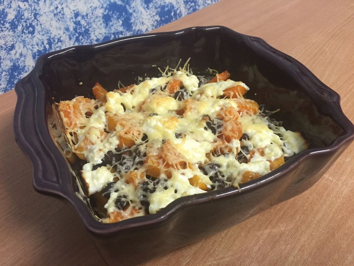 Gratin healthy butternut, haricots rouges et ricotta