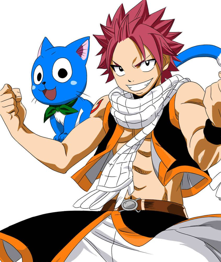 Les personnages de fairy tail - Fairy tail happy and natsu ...