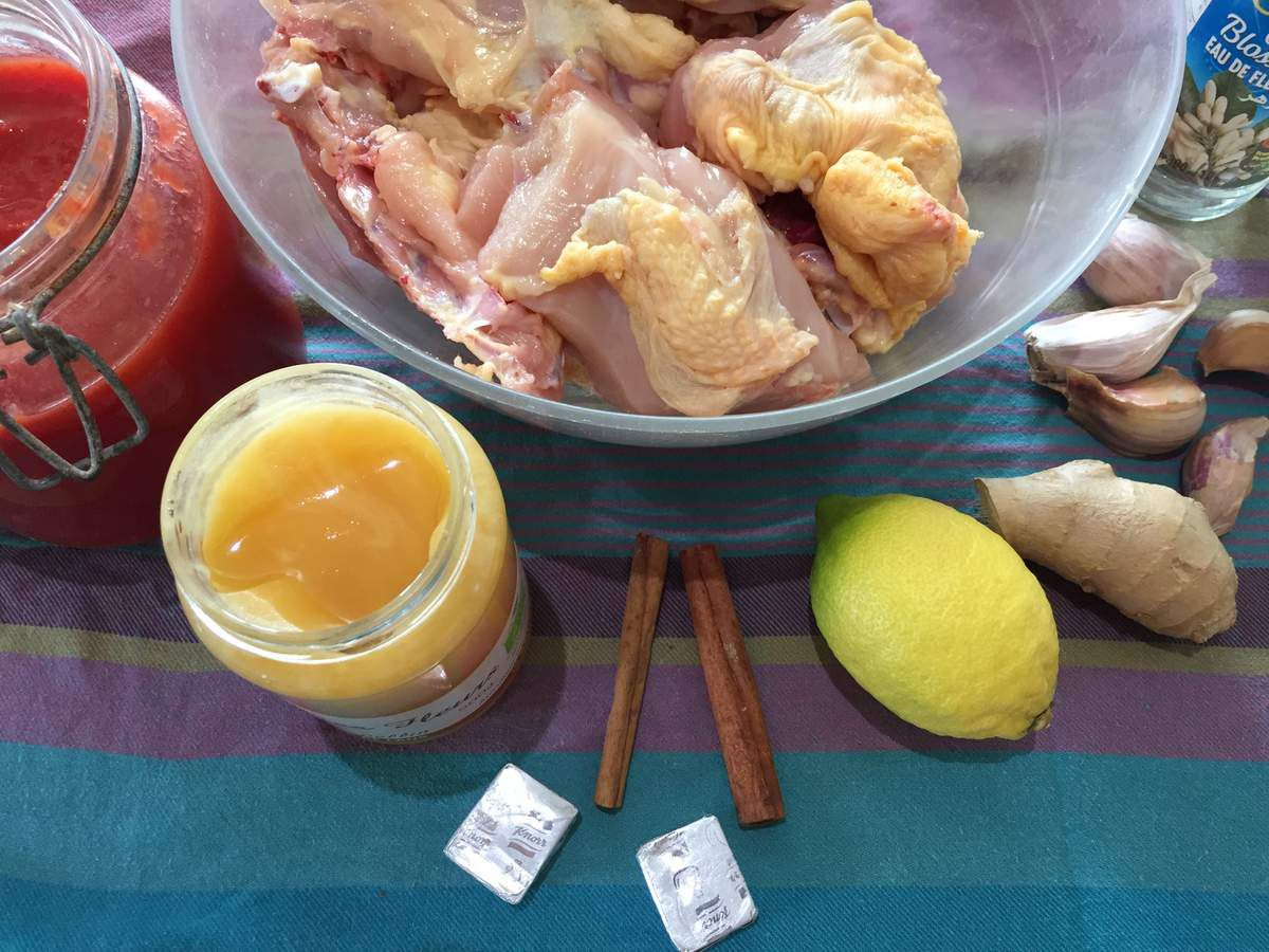 Poulet marocain au miel &amp&#x3B; safran