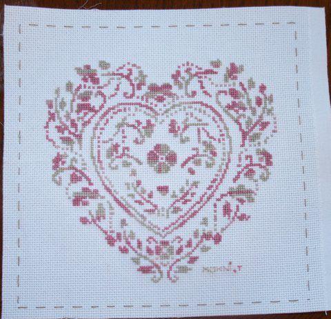 Vos réalisations : Coeur vermillon par Thérèse