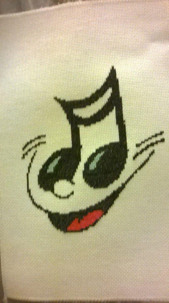 Vos réalisations : Note de musique sourire par Denise