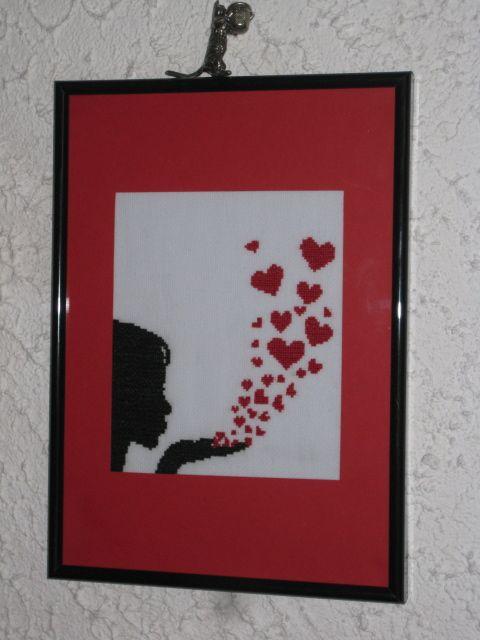 Vos réalisations : Femme et envolée de coeur par Valérie