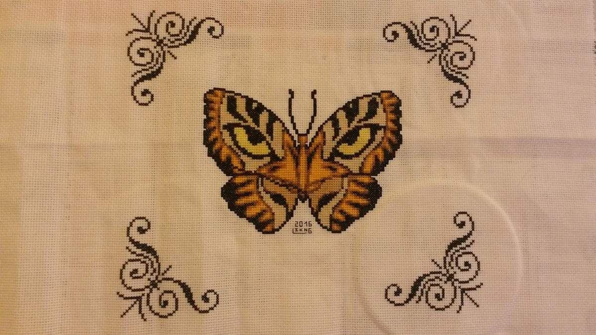 Vos réalisations : Papillon tigre par Laurence