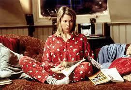 Bridget Jones dans son pyjama (d'ailleurs, une bonne âme pleine d'humour m'a offert le même, mais je m'égare...)
