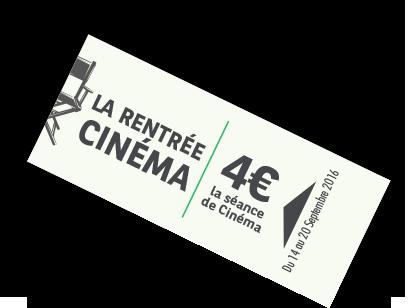 Jeu La Rentrée Cinéma: gagner 2 contremarques à 4 €