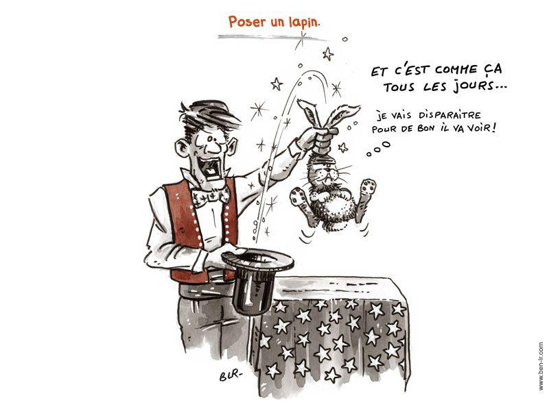 Poser un lapin...magie et réalité!