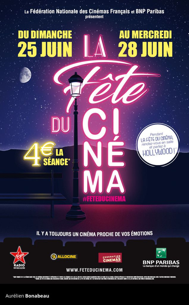 """Affiche """"fête du cinéma 2017"""""""