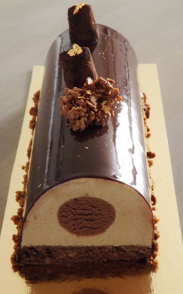 Recette b che de no l sp culoos et nutella passion patisserie - Buche de noel decorations ...