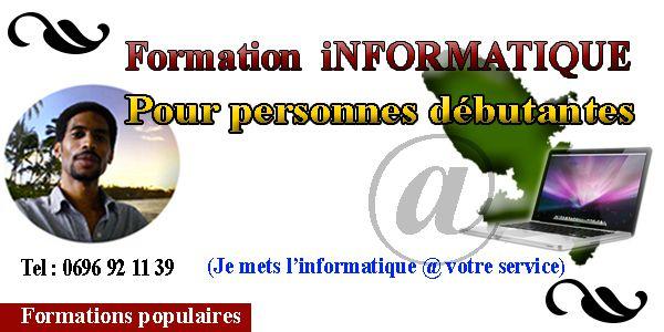� Formations informatiques pour personnes débutantes, Martinique