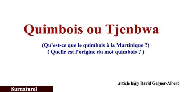 Quimbois ou tjenbwa : qu'est-ce que le quimbois à la Martinique
