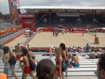 Beach-Girls must not be missing at a big Beachvolleyball event