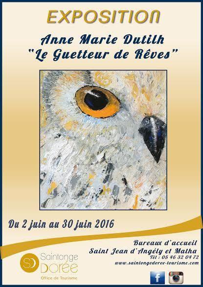 """Affiche Exposition """"Le Guetteur de Rêves"""""""