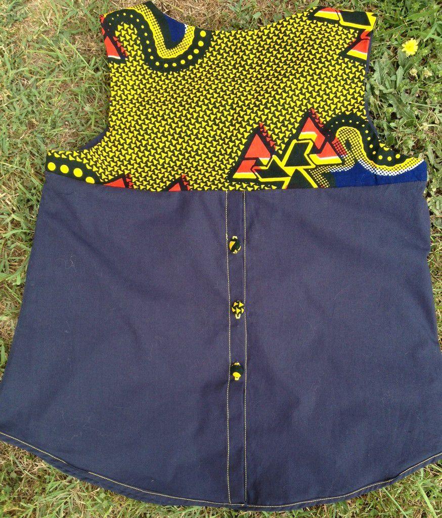 Tissu wax dans la blouse Datura de Deer and Doe