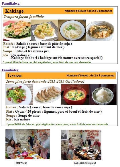 Programme des Cours JANVIER 2016