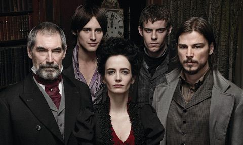 Sir Malcolm Murray, Dorian Gray, Vanessa Ives, Victor Frankenstein, and Ethan Chandler