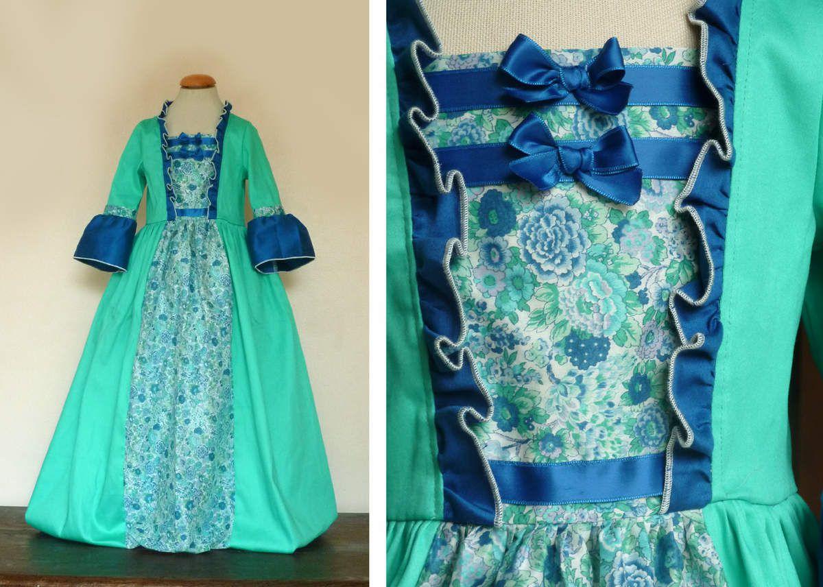 satin de coton vert menthe, Liberty tana lawn Elysian bleu, satin de coton bleu outremer. tarif 69€