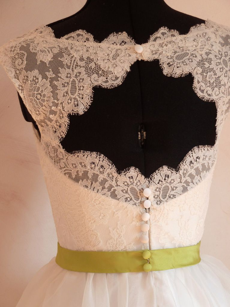 robe courte Flore bicolore