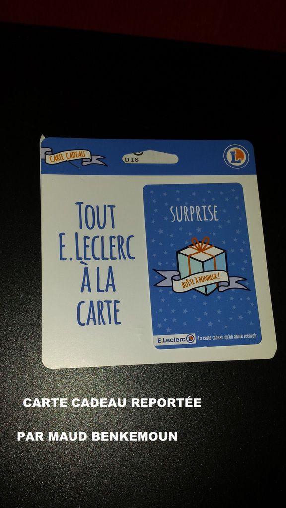 Lot n° 3 : Carte cadeau LECLERC d'une valeur de 7 euros  + 5 BDR à choisir dans la caverne de Lelene