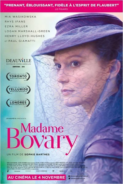 &quot&#x3B;Madame Bovary&quot&#x3B;, un film de Sophie Barthes