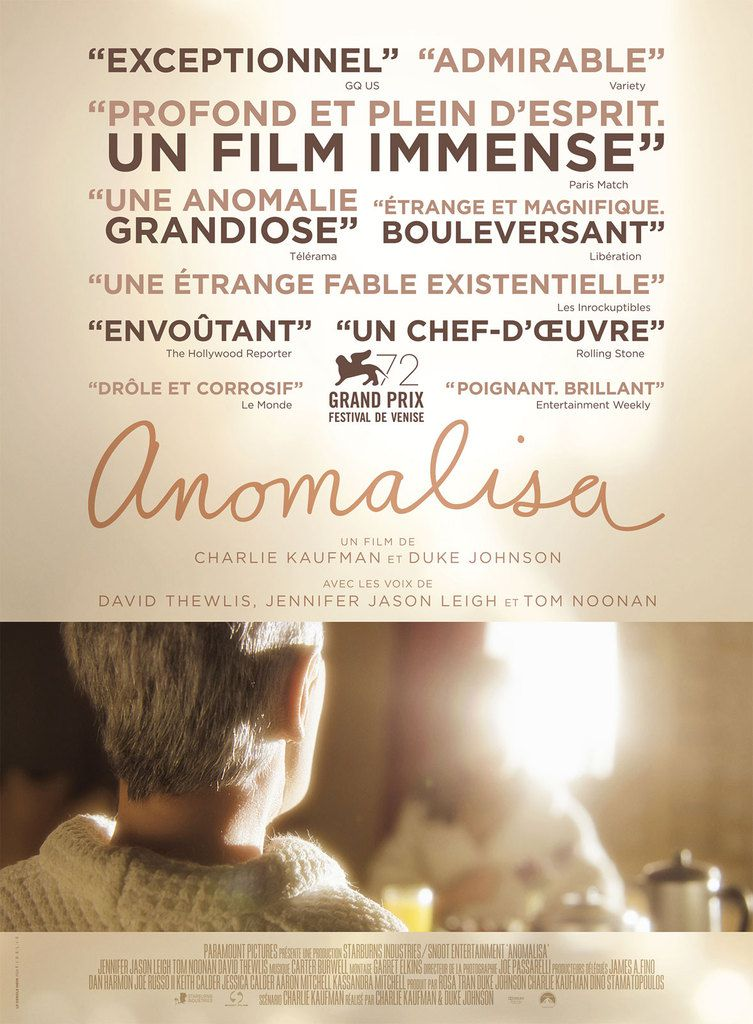 &quot&#x3B;Anomalisa&quot&#x3B;, un film de Charlie Kaufman et Duke Johnson
