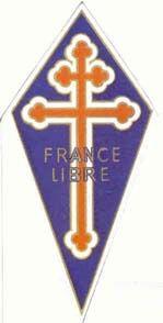 Croix d'Anjou tréflée ou Croix de Lorraine tréflée de la France libre