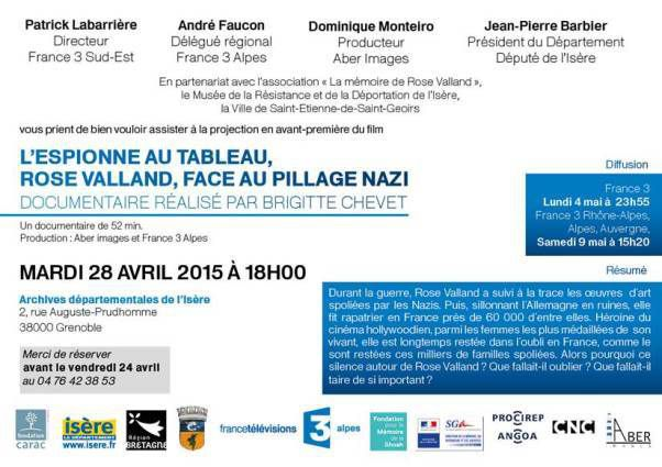 L'espionne aux tableaux, Rose Valland, face au pillage nazi