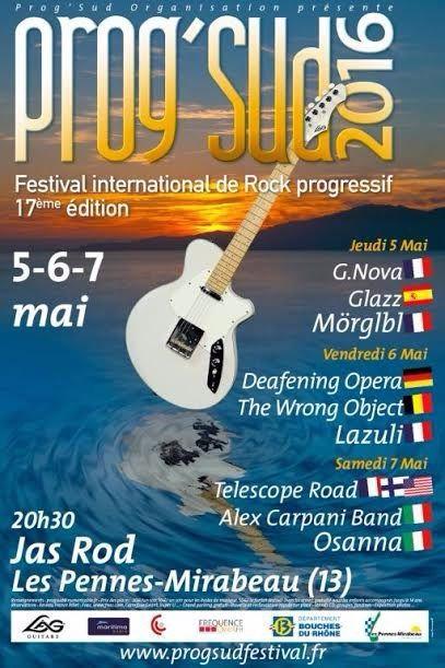 Affiche et flyer du festival PROG-SUD 2016