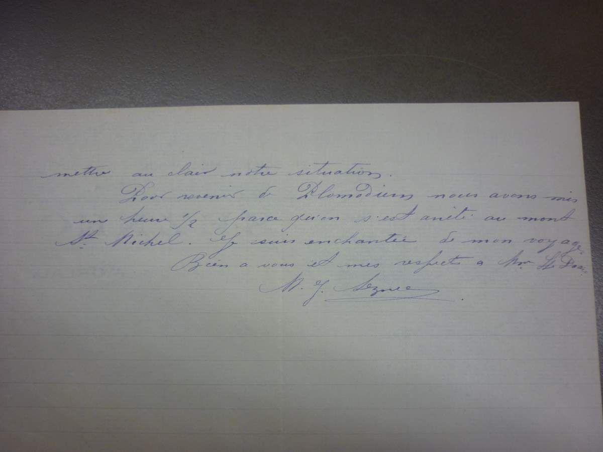 La lettre du 19 février 1920 (suite et fin).