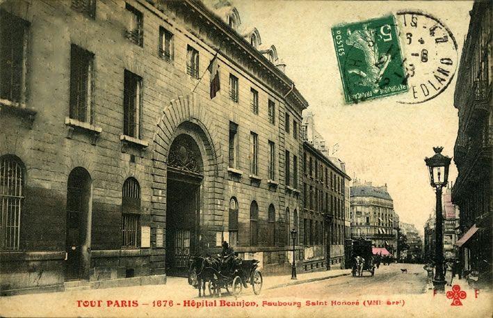L'Hôpital Beaujon, où Marie-Jeanne est décédée en 1931, était situé au 208, rue du Fbg St Honoré. Paris VIIIe.