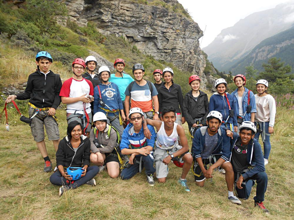 Photo de groupe après la via ferrata