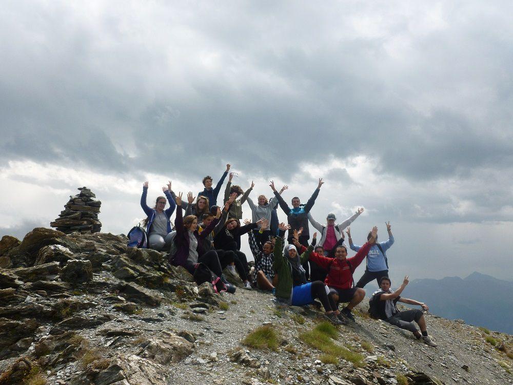Pointe de Lanserlia à plus de 2850 m d'altitude!!