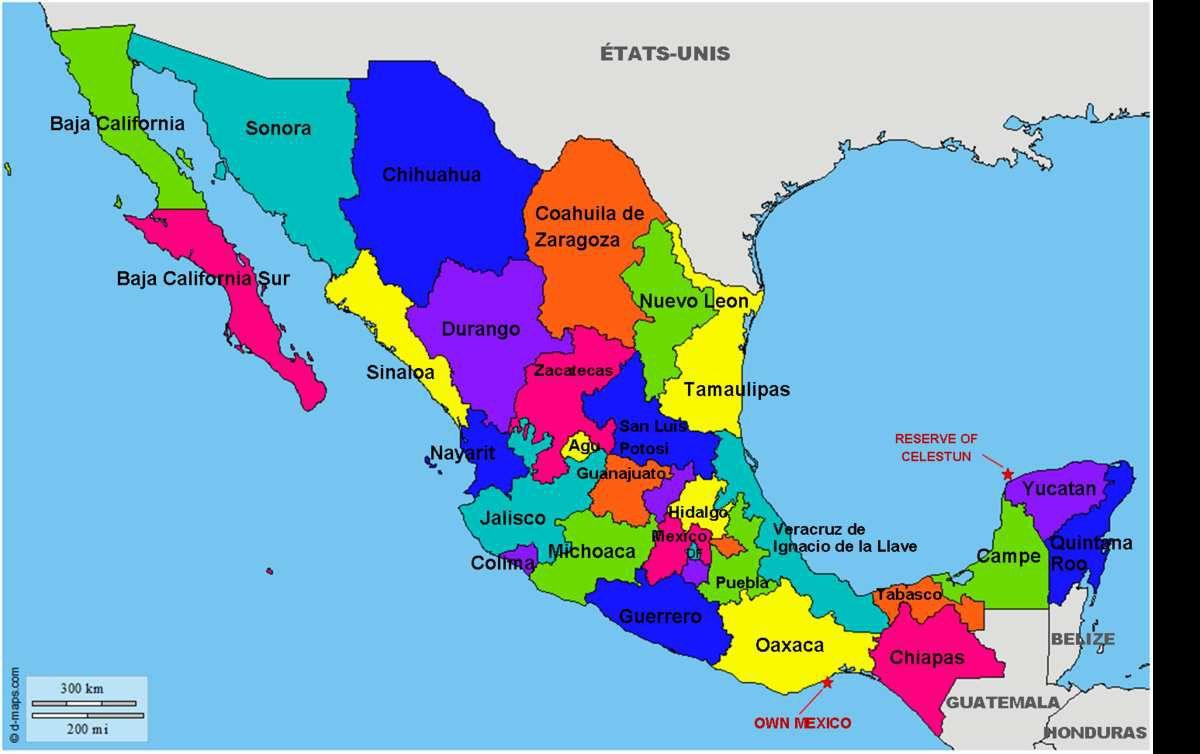 Les régions du Mexique