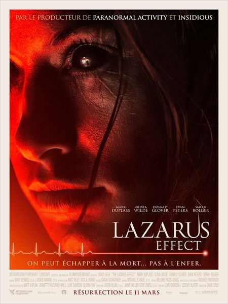 Critique Ciné : Lazarus Effect, sérum diabolique