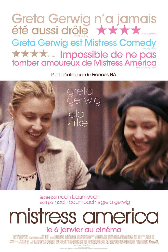 critique cin mistress america 2016 critiques s ries et cin actu breaking news a. Black Bedroom Furniture Sets. Home Design Ideas
