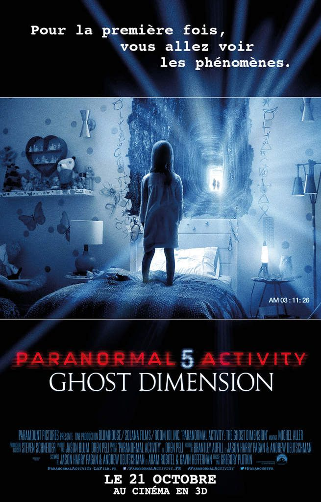 Critique Ciné : Paranormal Activity 5 Ghost Dimension (2015)