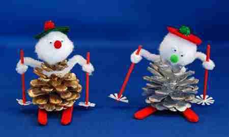 Les pommes de pin de Noël