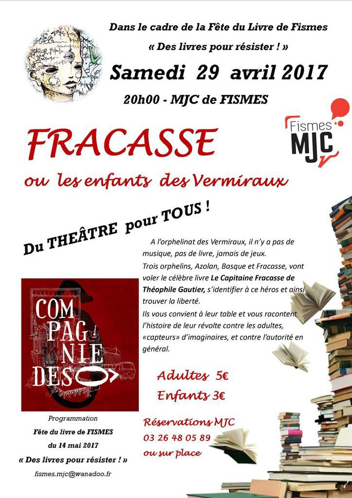CORRECTION ! LE THEATRE, C ' EST BIEN LE  29 AVRIL à 20h30