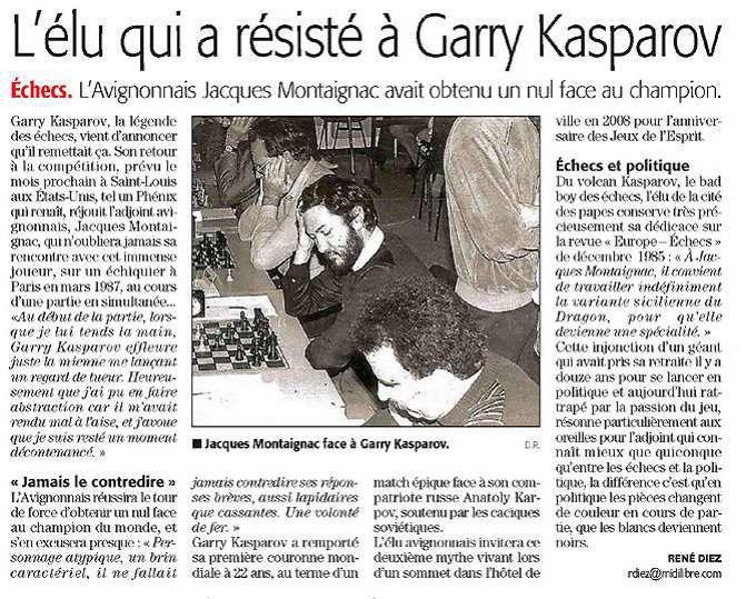 L'élu qui a résisté à Garry Kasparov